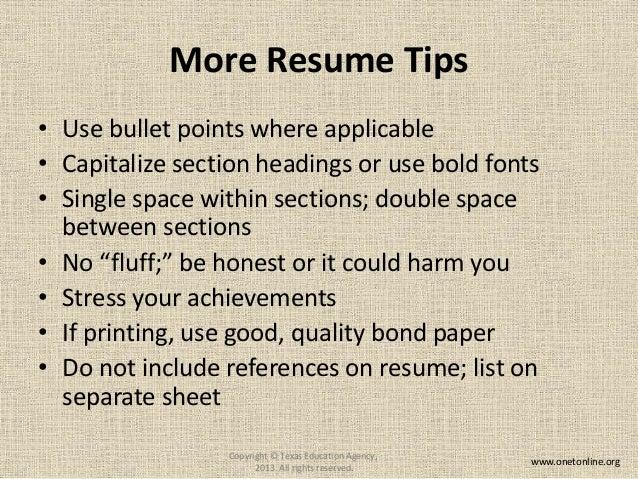 10. More Resume ...  Onet Online Resume