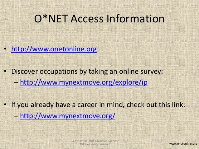onet student career planning