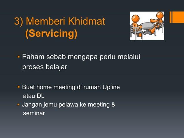 ▪ Faham sebab mengapa perlu melalui proses belajar ▪ Buat home meeting di rumah Upline atau DL ▪ Jangan jemu pelawa ke mee...