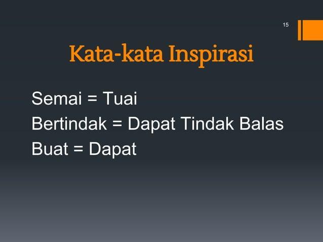 Kata-kata Inspirasi Semai = Tuai Bertindak = Dapat Tindak Balas Buat = Dapat 15
