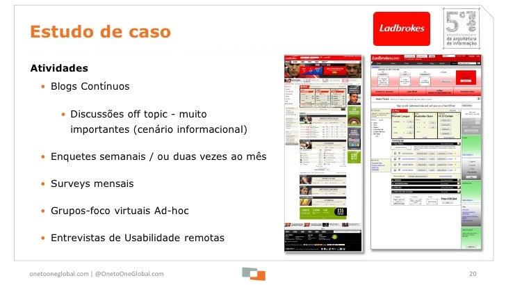 Estudo de casoAtividades   • Blogs Contínuos         • Discussões off topic - muito            importantes (cenário inform...