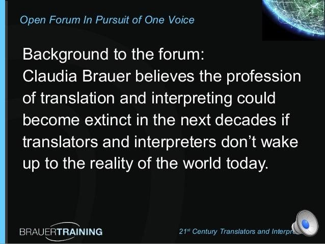 BrauerTraining One voice Forum # 1 Slide 3