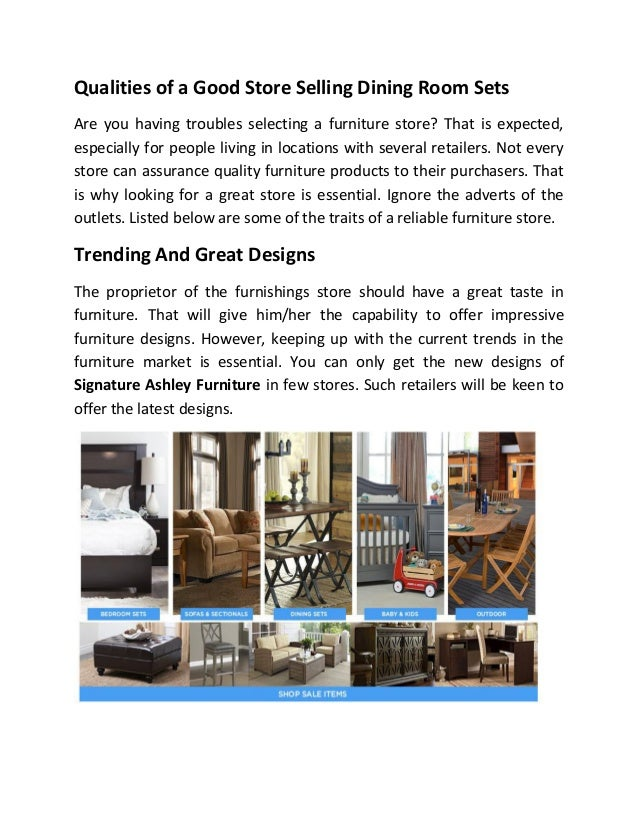 Qualities Of Good Furniture Store One Way Furniture