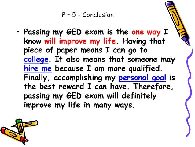 essay ged improve