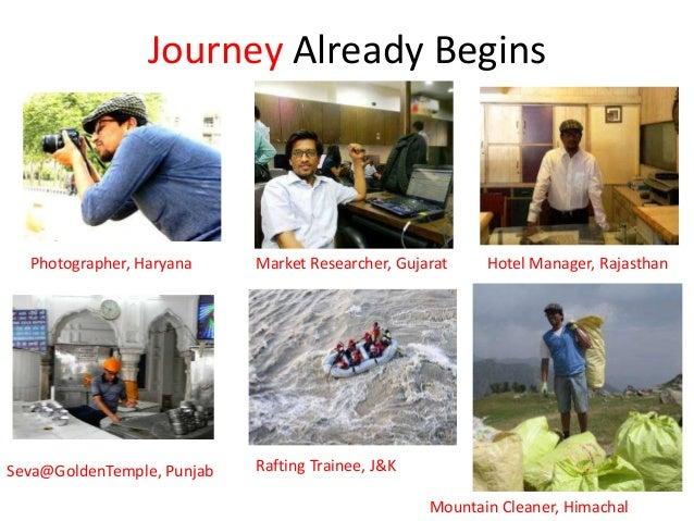 Journey Already Begins Photographer, Haryana Market Researcher, Gujarat Hotel Manager, Rajasthan Seva@GoldenTemple, Punjab...