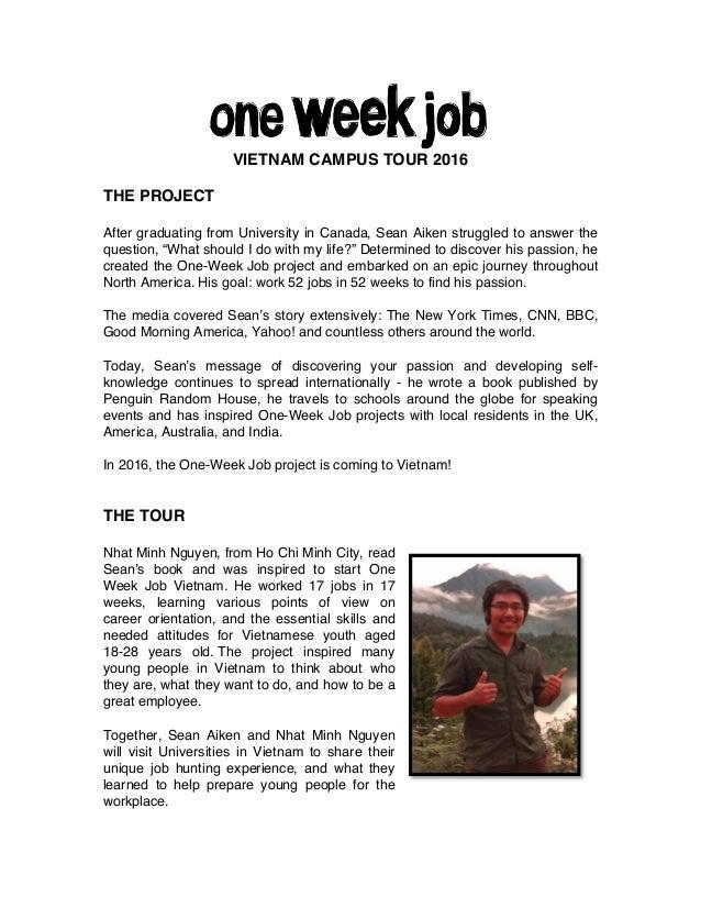 One Week Job - Vietnam Campus tour 2016