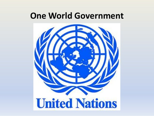 Is it the EU's goal to form a one world government?