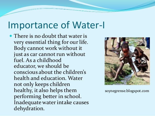 the importance of water in our life pdf