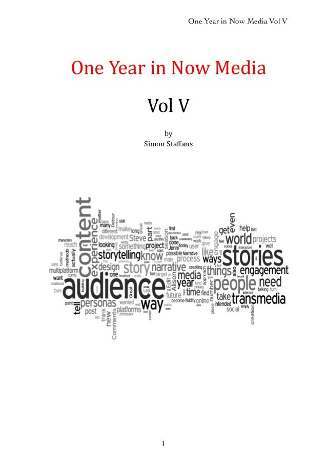 One Year in Now Media Vol V 1 One$Year$in$Now$Media Vol$V by Simon$Staffans