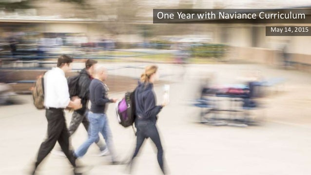 One Year with Naviance Curriculum May 14, 2015