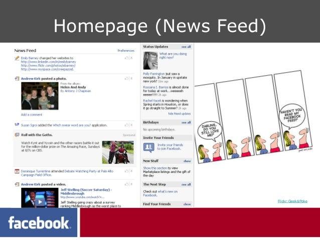 Homepage (News Feed)                       Flickr: Geek&Poke