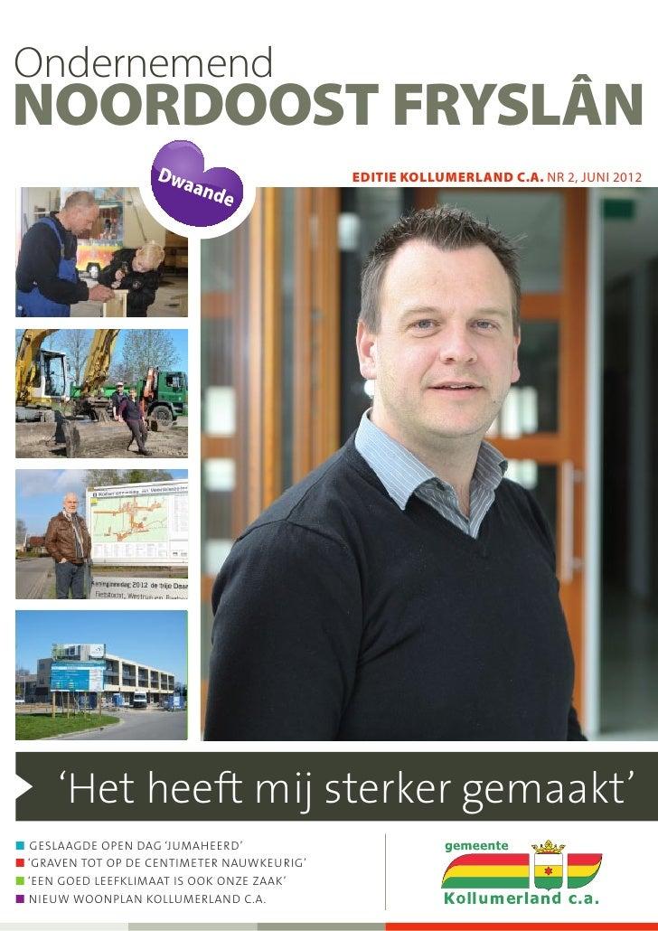 OndernemendNoordoost Fryslân                                             editie KOLLUMERLAND c.a. NR 2, juni 2012      'He...