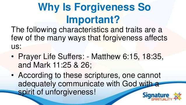 forgiveness is important essay Forgiveness is part of the process of healing and letting go of the past how to  forgive.
