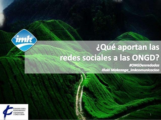 Social media y ONGD Slide 1