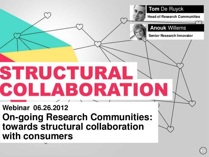 Tom De Ruyck                               Head of Research Communities                                Anouk Willems      ...