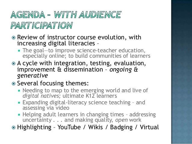 Ongoing integration of digital communications into online courses Slide 2
