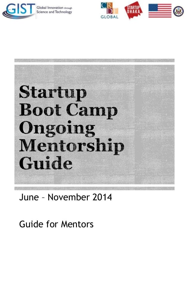 June – November 2014 Guide for Mentors