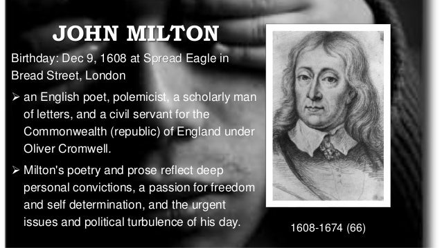 sonnet 16 john milton essay Your essay should be between 800-1,200 words — not counting the sonnet you quote at the start of the paper use mla format for quotations and citations see: document format , citation format , how to quote verse , and documenting sources.