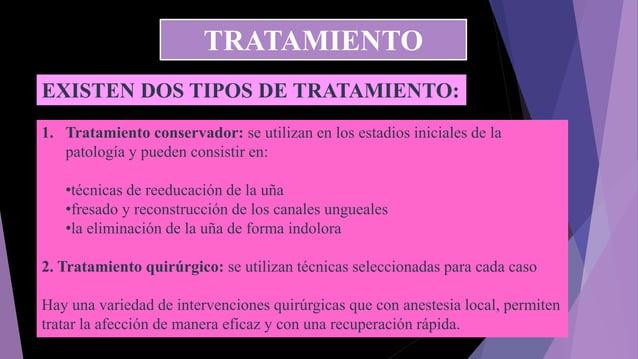 EXISTEN DOS TIPOS DE TRATAMIENTO: 1. Tratamiento conservador: se utilizan en los estadios iniciales de la patología y pued...