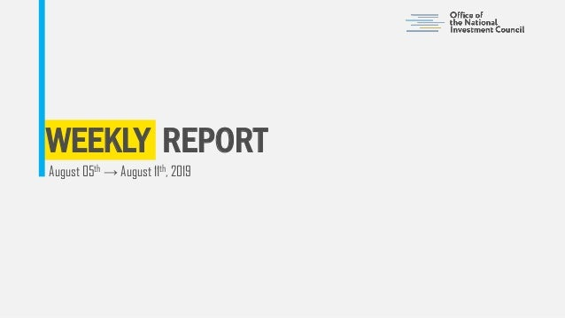 WEEKLY REPORT August 05th → August 11th, 2019