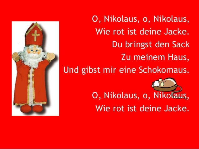 o nikolaus o nikolaus song about st nicholas 39 day in germany. Black Bedroom Furniture Sets. Home Design Ideas
