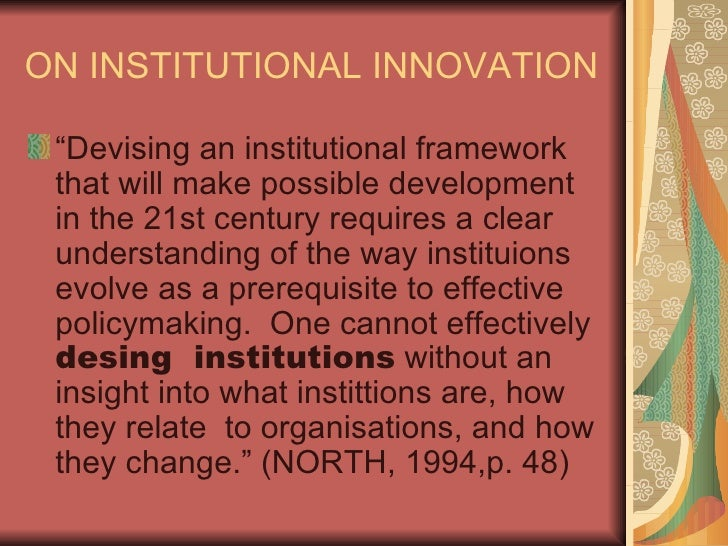douglass north institutions institutional change pdf