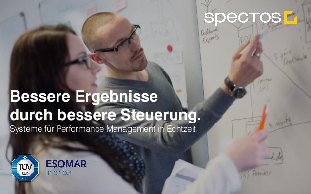 Spectos Performance Management in Echtzeit. Alle Rechte vorbehalten Spectos 2001-2015 Bessere Ergebnisse durch bessere Ste...