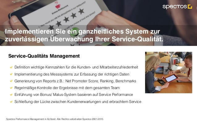 Spectos Performance Management in Echtzeit. Alle Rechte vorbehalten Spectos 2001-2015 Implementieren Sie ein ganzheitliche...