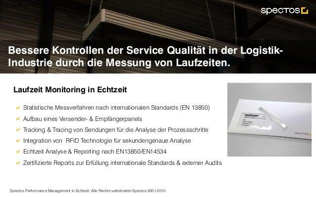 Spectos Performance Management in Echtzeit. Alle Rechte vorbehalten Spectos 2001-2015 Bessere Kontrollen der Service Quali...