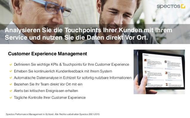 Spectos Performance Management in Echtzeit. Alle Rechte vorbehalten Spectos 2001-2015 Analysieren Sie die Touchpoints Ihre...
