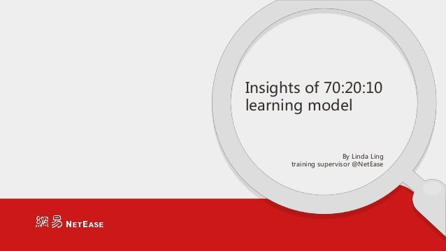 Insights of 70:20:10 learning model By Linda Ling training supervisor @NetEase
