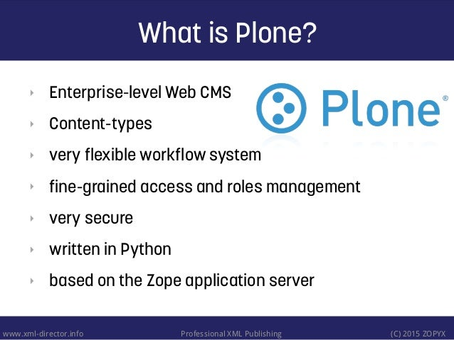 Integration of Plone with eXist-db Slide 3