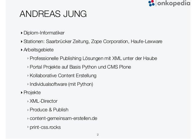 Onkopedia - Plone Tagung 2020 Dresden Slide 2