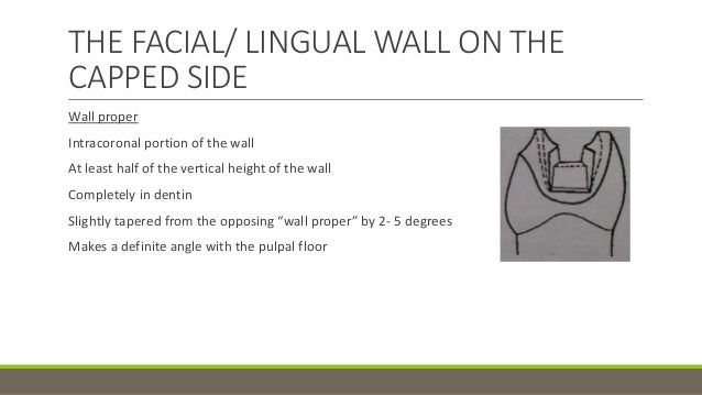 Pulpal Floor Gingival Wall Tooth Preparation And