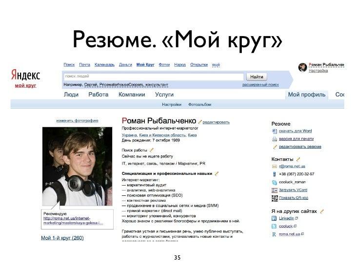 Социальные сетиFacebook (включите subscribe)Вконтакте (профиль, настройки приватности,группы друзей)TwitterGoogle +Сообщес...