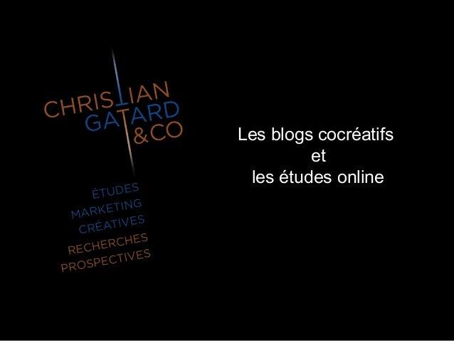 Les blogs cocréatifs et les études online