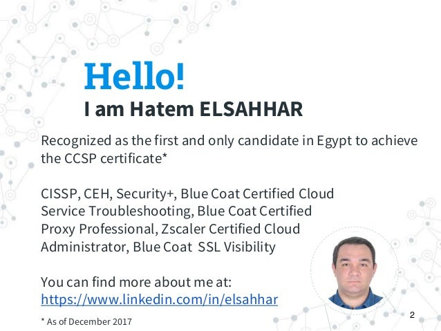 ISC)2 CCSP - Certified Cloud Security Professional