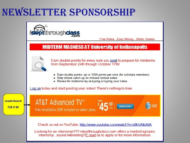 Online Advertising Media Kit - www.Isleptthroughclass.com