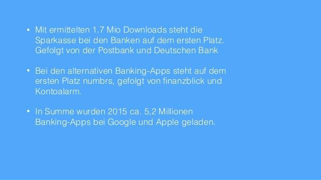 Online-Banking Apps Deutschland Übersicht 2015 Slide 3