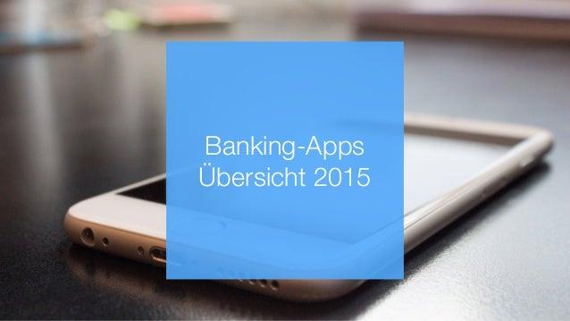 Banking-Apps Übersicht 2015