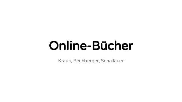 Online-Bücher Krauk, Rechberger, Schallauer