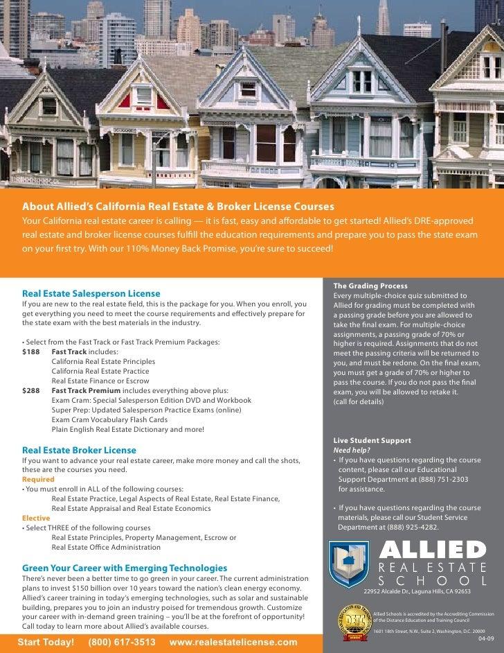 online california real estate sales broker license training