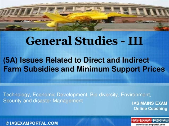 minimum support prices applied by the I impact of minimum support prices on agricultural economy (consolidated report) r s deshpande agricultural development and rural transformation unit.