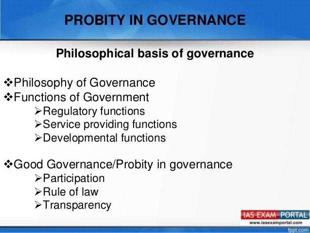 probity in governance Probity auditors and probity advisors  addressed within the probity plan to ensure that accountabilities are clear and that governance practices are in place.