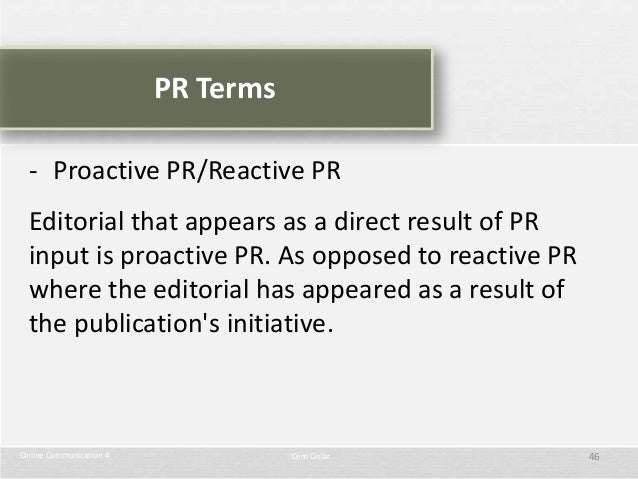 Being Proactive Vs. Reactive