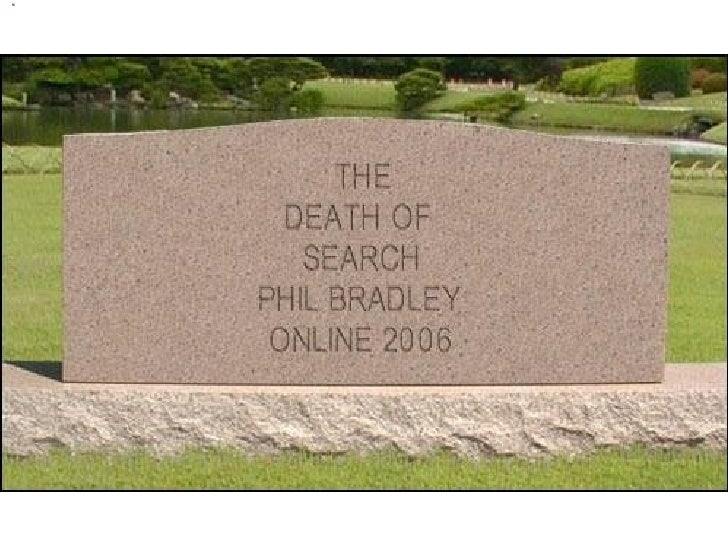 Online Conference 2006 'The Death of Search' Slide 1