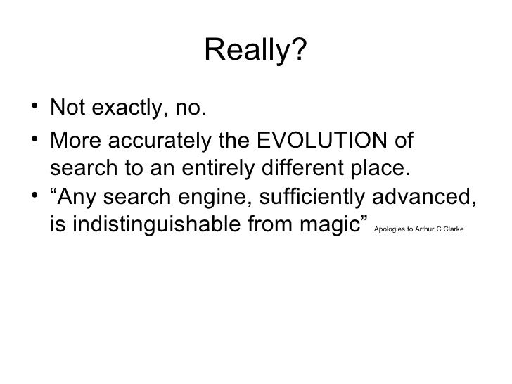 Online Conference 2006 'The Death of Search' Slide 2