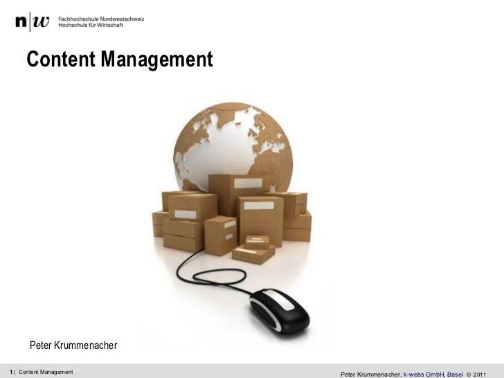 Online Content Management 20110414