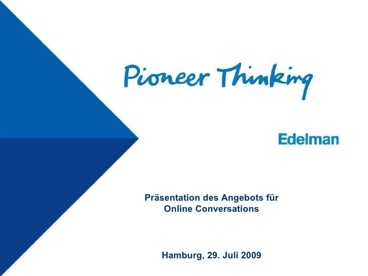 Präsentation des Angebots für Online Conversations Hamburg,  26. Mai 2009