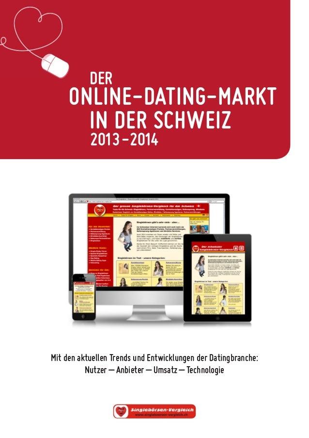 ONLINE-DATING-MARKT  IN DER SCHWEIZ  2013-2014  DER  Mit den aktuellen Trends und Entwicklungen der Datingbranche:  Nutzer...